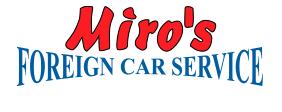 Miro's Foreign Car Service, Logo